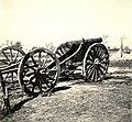 Zsákmányolt 15-ös tarack a magyar csapatok bevonulása idején. Fortepan 76998.jpg