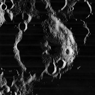 Zsigmondy (crater) - Lunar Orbiter 5 image