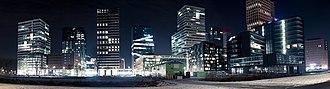 Zuidas - Image: Zuidas by night, Amsterdam