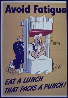"""Avoid fatigue - Eat a lunch that packs a punch"" - NARA - 513896.jpg"