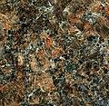 """""""Dakota Mahogany Granite"""" (porphyritic granite, Milbank Granite, 2.6-2.7 Ga, Neoarchean; east of Milbank, South Dakota, USA) (14618866119).jpg"""