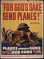 """FOR GOD'S SAKE SEND PLANES"" Planes mean guns - our guns. Let's go, everybody... keep`em firing^ - NARA - 534741.jpg"