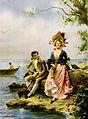 """Flirt au Bord de la Mer"" by Hippolyte Lucas, Casino Monte Carlo, Riviera, ca. 1895.jpg"