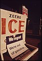"""Zero Ice"" and ""Out of Gas"" Signs at Sherwood, During the Fuel Crisis of 1973-74 Result in Unintended Irony 12-1973 (4272501778).jpg"