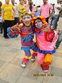 'Dwarf Clowns' at Worli Festival-2014 in Mumbai..JPG