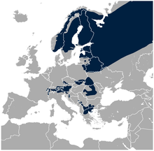 (Eurasian) Three-toed Woodpecker Picoides tridactylus distribution in Europe map.png