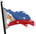 (Jeffrey) Philippine Flag Tatterd.JPG