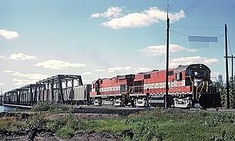 Green Bay and Western Railroad - A Green Bay and Western Railroad train, 1964