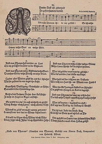 Heinrich Albert (composer) - Anke van Tharaw, with music by Heinrich Albert