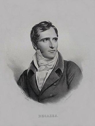 Élie, duc Decazes - Engrave of Decazes