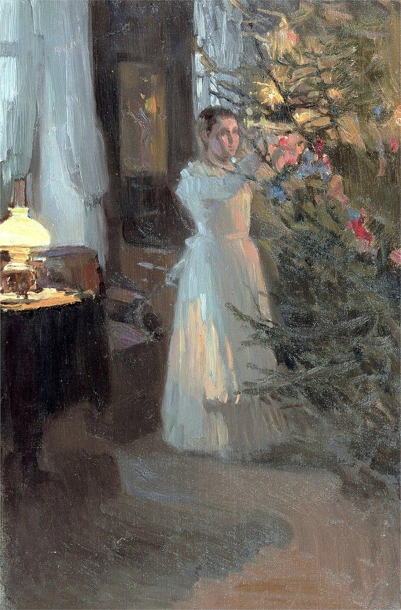 Алексей М. Корин - Рождественская ёлка (1910).jpg