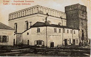 Łuck Ghetto - Great Synagogue in Łuck before its virtual destruction in World War II
