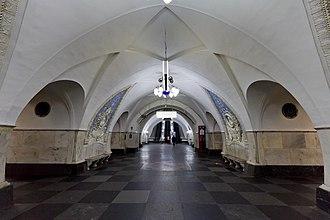 Taganskaya (Koltsevaya line) - Image: Таганская кольцевая 07