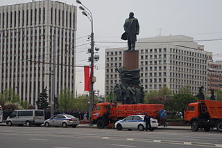 Monument to Lenin in the Kaluga Square