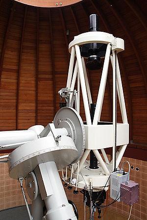 Serrurier truss - A Serrurier truss tube assembly on the Carl Zeiss Cassegrain telescope in Ostrowik near Warsaw.