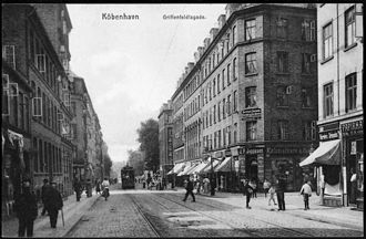 Griffenfeldsgade - Griffenfeldsgade in the early 20th century