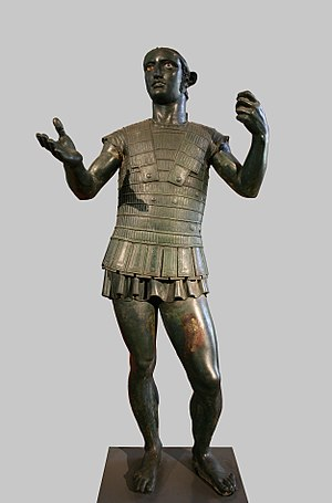 "Mars of Todi - The ""Mars"" of Todi, a life-sized bronze"