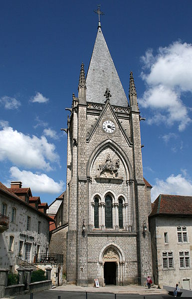 Montbenoît (Doubs) - France), the abbey church (XI-XXth centuries).
