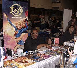 Jamal Igle - Igle at the 2010 New York Comic Con