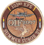 103d Expeditionary Fighter Squadron - Emblem