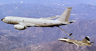 101st Air Refueling Wing - Image: 132d Air Refueling Squadron Refueling an F 22