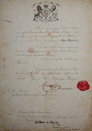 Johann Maria Farina gegenüber dem Jülichs-Platz - Royal Warrant granted by Queen Victoria in 1837