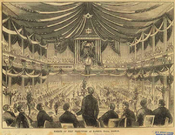 Fourth of July festivities at Faneuil Hall; Gleason's Pictorial, 1853