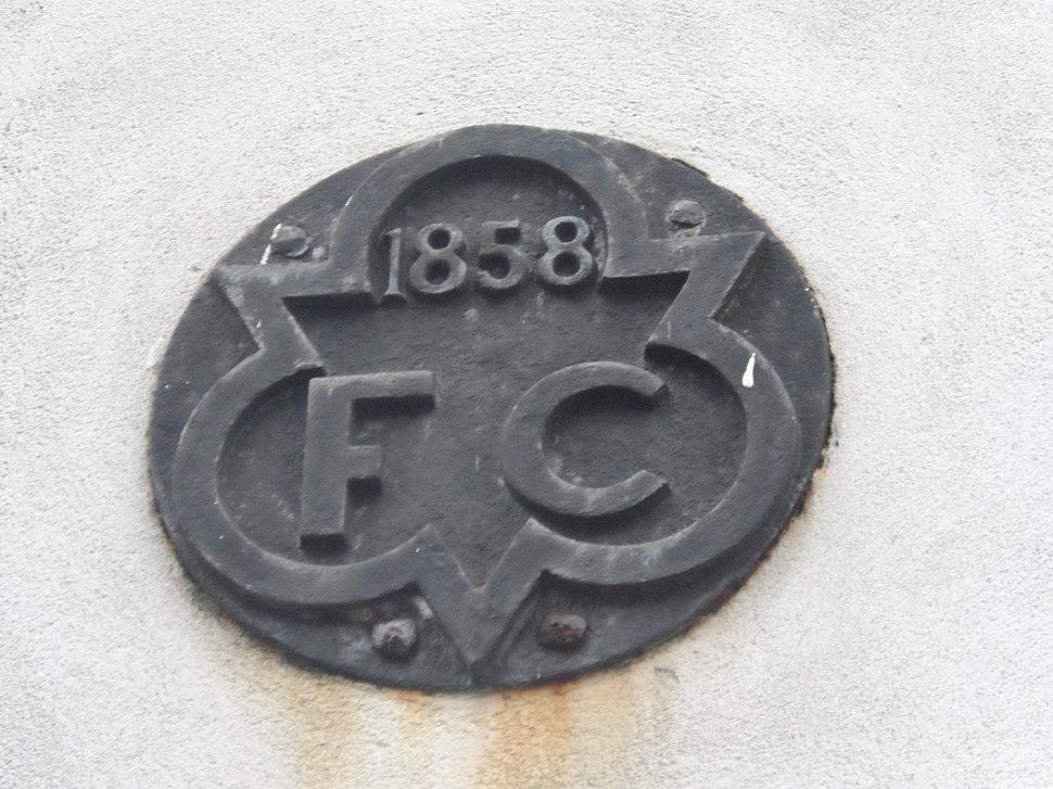 1858 FC plaque