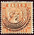 1861 6kr Baden 24 Zacken Carlsruhe Mi11a.jpg