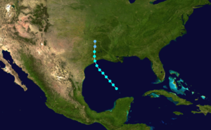 1871 Atlantic hurricane season - Image: 1871 Atlantic tropical storm 2 track