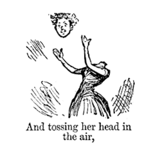 Cliché - Extract from a cartoon by Priestman Atkinson, from the Punch Almanack for 1885, mocking  clichéd expressions in the popular literature of the time