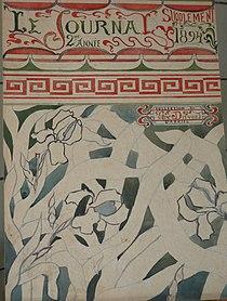 1894, Gabriel van Dievoet, projet page LE JOURNAL.JPG