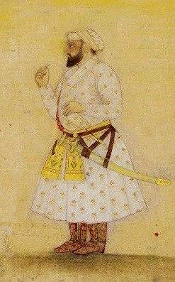 18th century painting of Guru teg bahadur