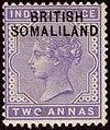 1903ca 2a Somaliland unused Yv3 SG3 pale violet.jpg