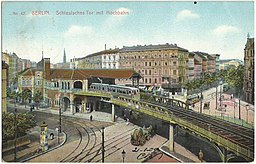 schlesiches tor hochbahn Vintage postcards private collection [Public domain], via Wikimedia Commons