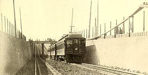 Key System - A Key System train in Oakland, 1909