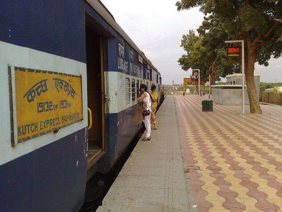 19132 Kutch Express at Bhuj railway station