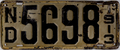 1913 North Dakota License Plate.png
