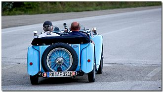 MG T-type - 1938 TA in competition, Italy 2015