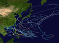 1951 Pacific typhoon season summary map.png