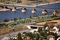 196R23180890 Blick vom Donauturm, Nordbahnbrücke, Donauinsel, Schnellbahngarnitur, Lok 4020, Donauuferautobahn.jpg