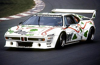 BMW M1 - Nelson Piquet with BMW M1 in 1980 at the Nürburgring