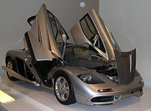 1996 McLaren F1 with butterfly doors & Butterfly doors - Wikipedia