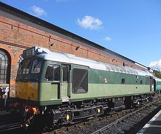British Rail Class 25 - British Railways Class 25 D7612 at Tunbridge Wells West on the Spa Valley Railway