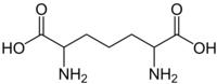 Strukturformel von 2,6-Diaminopimelinsäure