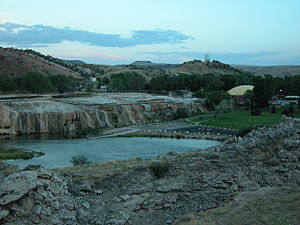 Hot Springs State Park - Image: 2003 08 16 Hot Springs State Park across Big Horn River 2