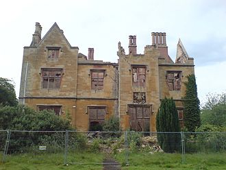 Nocton Hall - The remains of Nocton Hall after the fire