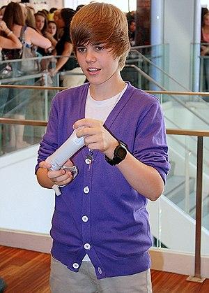 "Bigger (Justin Bieber song) - Monica Herrerra of Billboard said that Bieber (pictured) had ""genuine swagger"" on ""Bigger"""