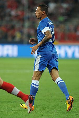 José Holebas - Cholevas playing for Greece against Austria in 2013