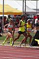 2013 IPC Athletics World Championships - 26072013 - Elena Pautova of Russia, Maritza Arango Buitrago and Jonathan Sanchez Gonzalez of Colombia during the Women's 1500m - T12 first semifinal 1.jpg